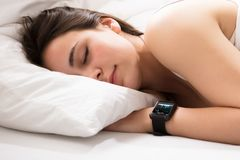 Heart Beat Monitor On Smart Watch Royalty Free Stock Photo