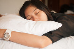 Woman is sleeping  Royalty Free Stock Photos