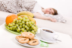 Woman Sleeping In Bed Royalty Free Stock Photos