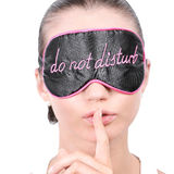 Woman in sleeping mask Royalty Free Stock Images