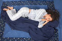 Woman Sleeping On Side Royalty Free Stock Photo