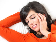 Woman sleeping peacefully Stock Photos