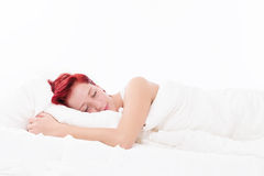 Woman sleeping peacefully Royalty Free Stock Photos