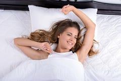 Woman sleeping Stock Image