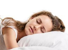 Woman Sleeping Royalty Free Stock Image