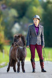 Woman with small pony Royalty Free Stock Photo
