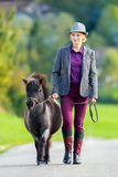 Woman with small pony Royalty Free Stock Images