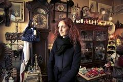 Woman in a small room. A woman in a small room Royalty Free Stock Photo