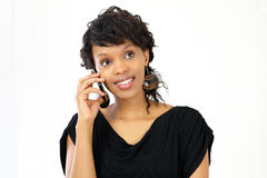 Woman on smart phone Stock Photography