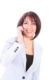 Woman on Smart phone Royalty Free Stock Photography