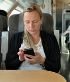 Woman smart phone Royalty Free Stock Image