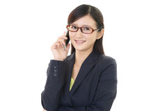 Woman with a smart phone  Royalty Free Stock Photos