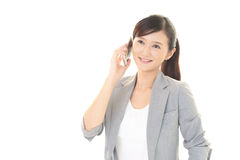 Woman with a smart phone  Royalty Free Stock Photography