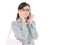 Woman with a smart phone  Stock Photography