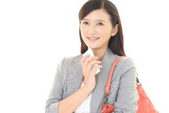 Woman with a smart phone  Stock Image