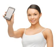 Woman with smartphone Royalty Free Stock Photo
