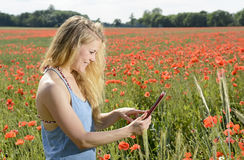 Woman with smartphone Royalty Free Stock Image