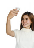 Woman with smartphone. Stock Photography