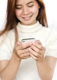Woman with smartphone. Stock Image