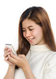 Woman with smartphone. Royalty Free Stock Photography