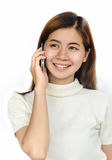 Woman with smartphone. Stock Photos