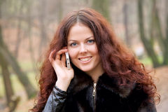 Woman with smartphone Royalty Free Stock Photos