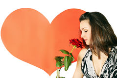 Woman smelling a rose Royalty Free Stock Photos