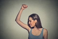 Free Woman, Smelling, Sniffing Her Wet Armpit, Something Stinks Stock Photo - 57640660