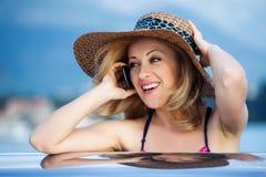 Woman&smile-10 Arkivbilder