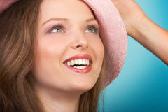 Woman smile Stock Photos