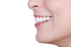 Woman Smile. Close up to smiling female. Smile, it is all about happiness Stock Images