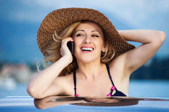 Woman&smile-12. Attractive smiling blond hair woman Royalty Free Stock Images