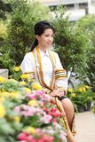 The woman smile in congratulations day . Stock Photography