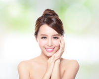 Woman smile with health skin and teeth Royalty Free Stock Photography