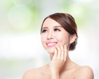Woman smile with health skin and teeth Stock Photography