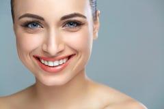 Woman smile. Teeth whitening. Dental care Royalty Free Stock Photos