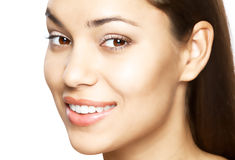 Woman smile. Teeth whitening. Dental care. Beautiful woman smile. Teeth whitening. Dental care Royalty Free Stock Image