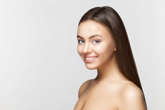 Woman smile. Teeth whitening. Dental care. Royalty Free Stock Images