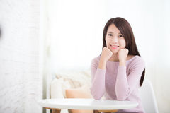 Woman smile to you Royalty Free Stock Images