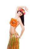 Woman smile, wearing summer costume Stock Image