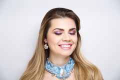 Woman smile white teeth whitening stock images