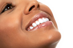Woman Smile. Young beautiful girl smile with healthy white teeth Royalty Free Stock Photos