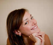 Woman smiles Royalty Free Stock Photos