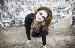 Woman smiles diabolical Royalty Free Stock Photos