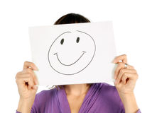 Woman with smiley Stock Image