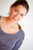 Woman is smiling Royalty Free Stock Images