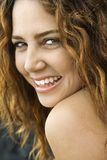 Woman smiling. Royalty Free Stock Image