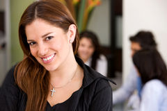 Woman smiling Stock Image