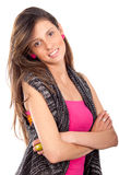 Woman smiling with Arms Folded Royalty Free Stock Photo