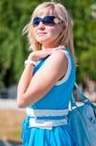 Woman smiling at the camera. Stock Image